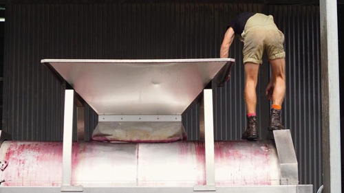 Wine making process at Spinifex Wines