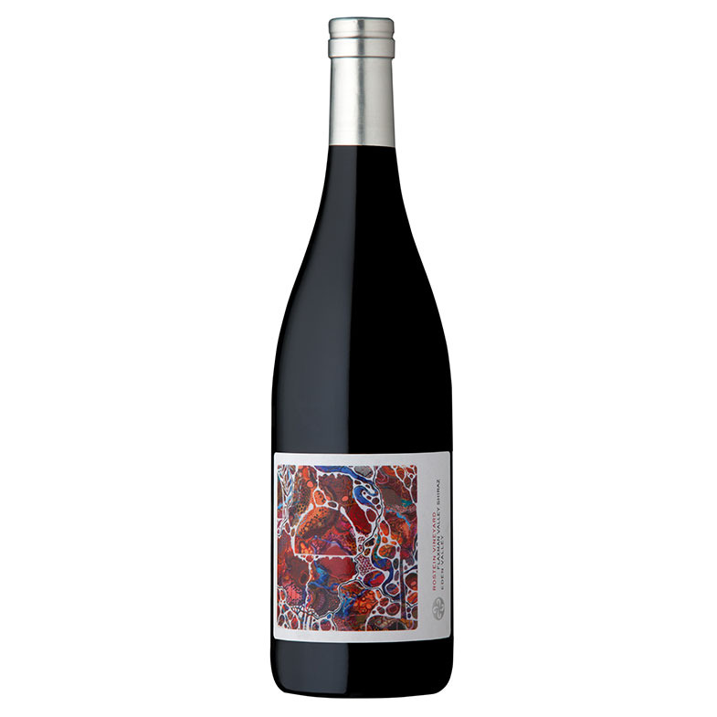 """The 2018 vintages of Rostein Shiraz and Rostein Riesling labels are based on the artwork entitled """"Life's a colourful canvas"""" painted by the artist Catherine Black (Instagram: @cathblackart)"""